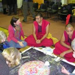 Group sand mandala