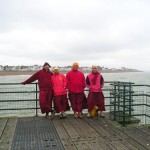 More monks on pier